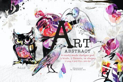 طرح لایه باز تصویر پس زمینه هنر انتزاعی Abstract art