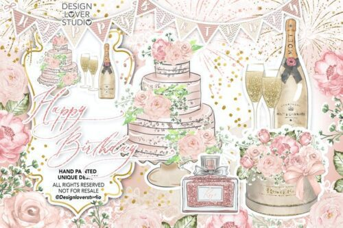 طرح لایه باز تصویر پس زمینه تولد Happy Birthday design