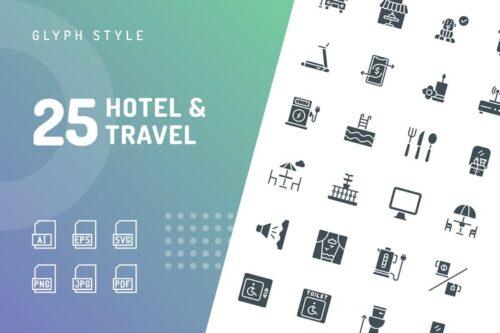 hotel-travel-glyph-icons