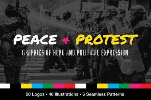 طرح لایه باز تصویر پس زمینه تظاهرات و شعار Protest Graphics and Slogans