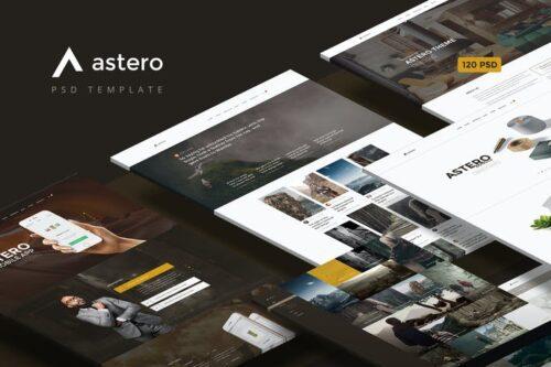 طرح لایه باز تمپلیت چندمنظوره Astero — Multipurpose Portfolio | Blog | Store PSD