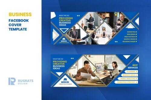 طرح لایه باز تمپلیت کاور فیسبوک Business R3 Facebook Cover Template