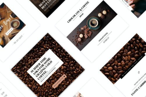طرح لایه باز تمپلیت قهوه Coffee House - Social Media Template