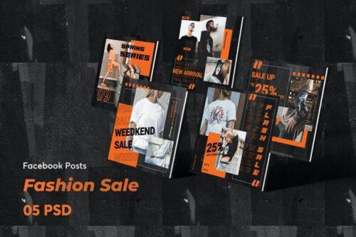 طرح لایه باز پست حراج فیسبوک Creative Fashion Sale Facebook Post