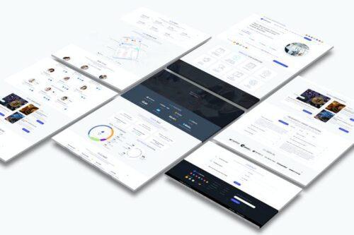 طرح لایه باز لندینگ پیج بلاکچین و کریپتو Cryptocurrency and ICO Landing Page Light